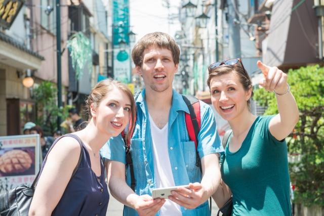 三人の外国人観光客