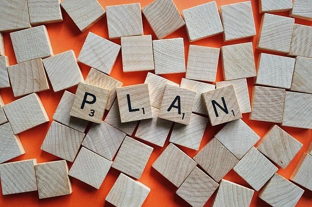 積み木に書いたplan