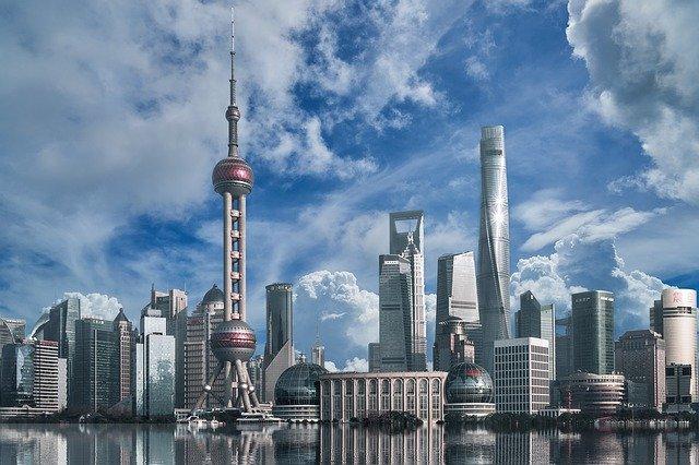 経済発展する中国の風景