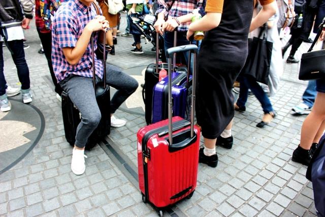 訪日の観光客